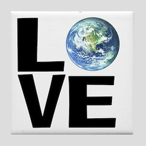 I Love the World Tile Coaster