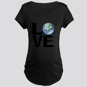 I Love the World Maternity Dark T-Shirt