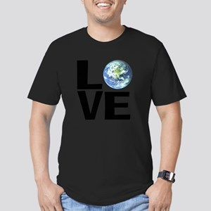 I Love the World Men's Fitted T-Shirt (dark)