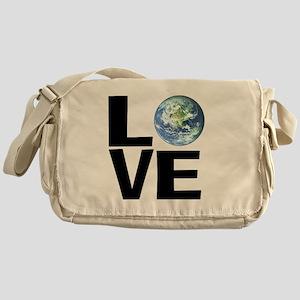 I Love the World Messenger Bag
