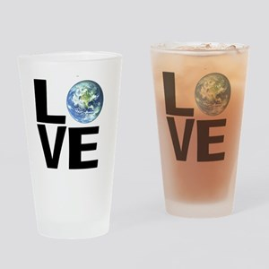 I Love the World Drinking Glass
