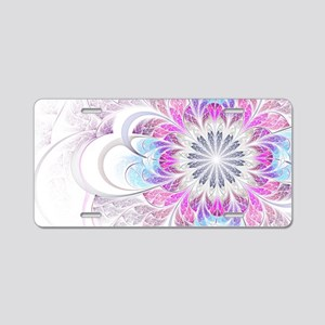 Unique Fractal Flower Aluminum License Plate