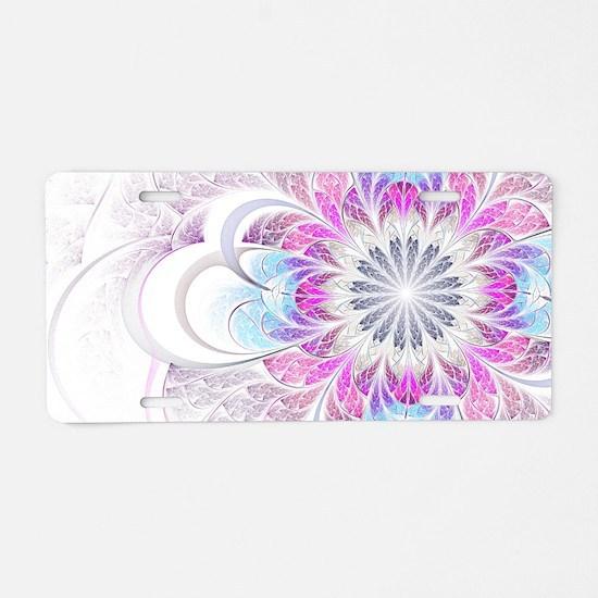 Unique Fractal Flower Aluminum License Plate