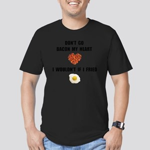 Bacon My Heart Men's Fitted T-Shirt (dark)