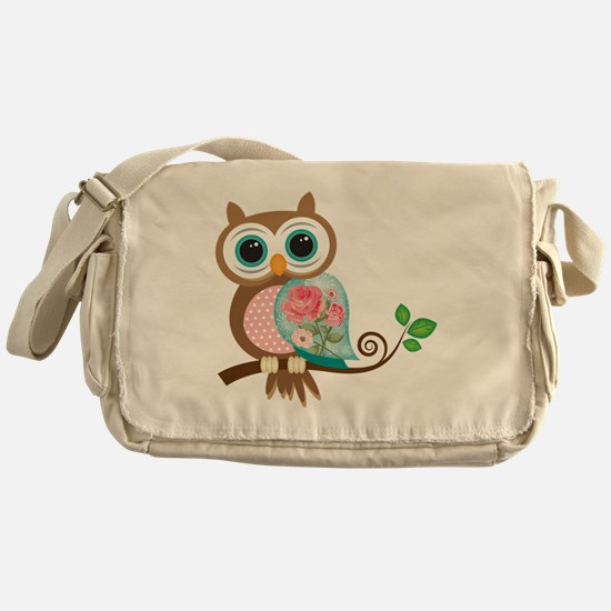 Vintage Owl Messenger Bag