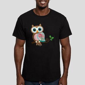 Vintage Owl Men's Fitted T-Shirt (dark)