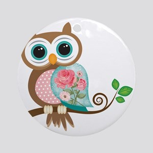 Vintage Owl Round Ornament