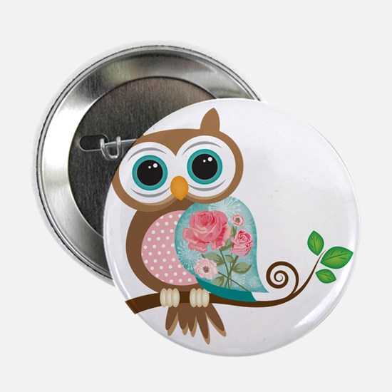 "Vintage Owl 2.25"" Button"
