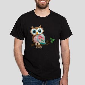 Vintage Owl Dark T-Shirt
