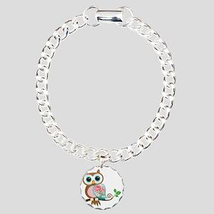 Vintage Owl Charm Bracelet, One Charm