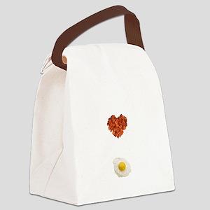Bacon My Heart Canvas Lunch Bag