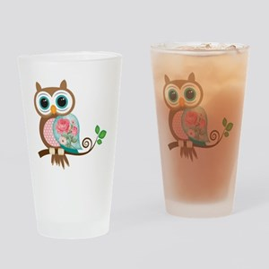 Vintage Owl Drinking Glass