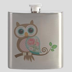 Vintage Owl Flask