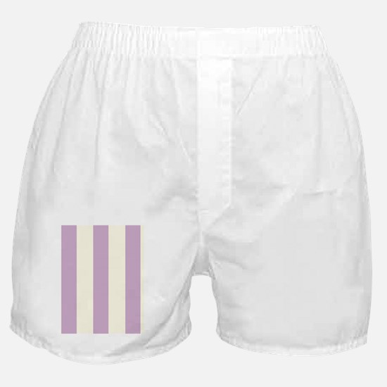 Grapes and cream Stripes Boxer Shorts
