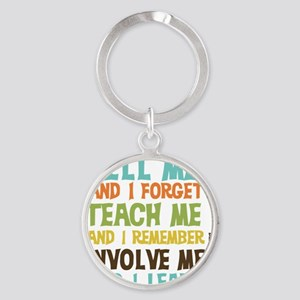 Involve Me Round Keychain