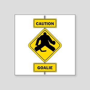 Caution Goalie Sign Sticker