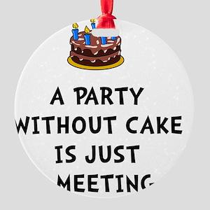 Cake Meeting Round Ornament