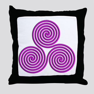 triskele Positively Pink Throw Pillow