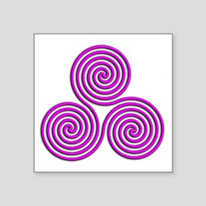 """triskele Positively Pink Square Sticker 3"""" x 3"""""""