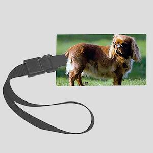 English Toy Spaniel Dog Portrait Large Luggage Tag