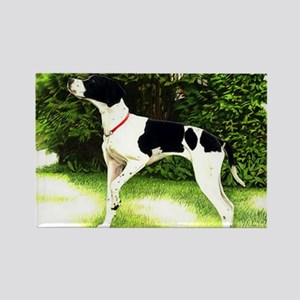 English Pointer Dog Portrait Rectangle Magnet
