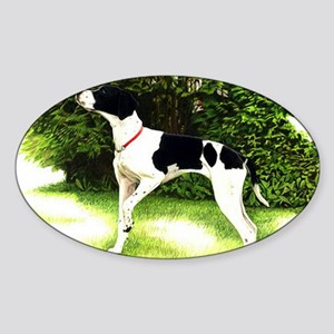 English Pointer Dog Portrait Sticker (Oval)