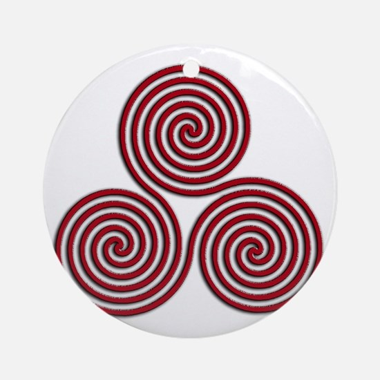 triskele Red Round Ornament