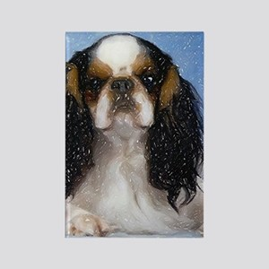 English Toy Spaniel Dog Portrait Rectangle Magnet