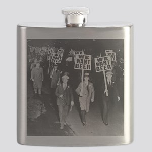 We Want Beer! Protest Flask