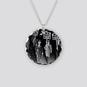 We Want Beer! Protest Necklace Circle Charm
