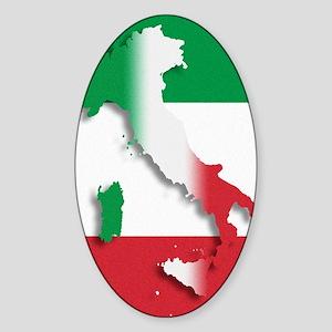 Italy Italian Flag Sticker (Oval)