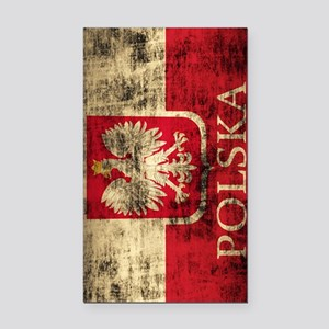 Polska Polish Flag Coat of Ar Rectangle Car Magnet