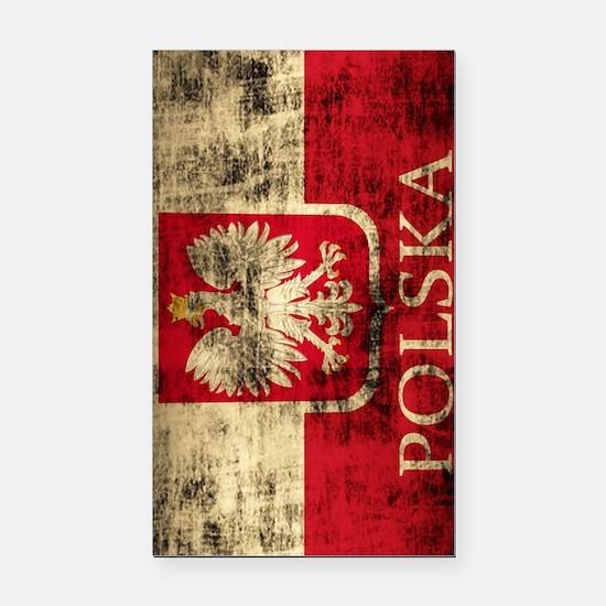 Polska Polish Flag Coat of Ar Rectangle Car Magnet