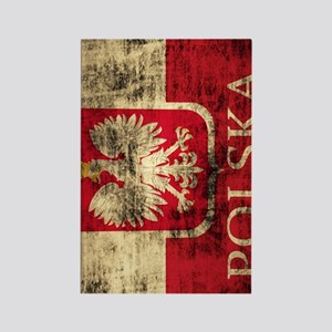 Polska Polish Flag Coat of Arms G Rectangle Magnet