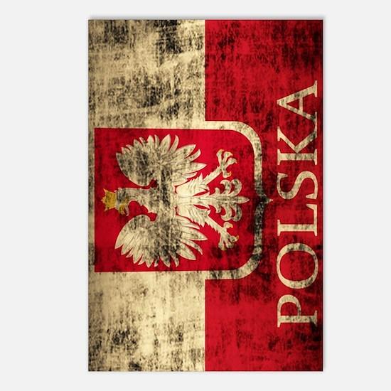 Polska Polish Flag Coat o Postcards (Package of 8)