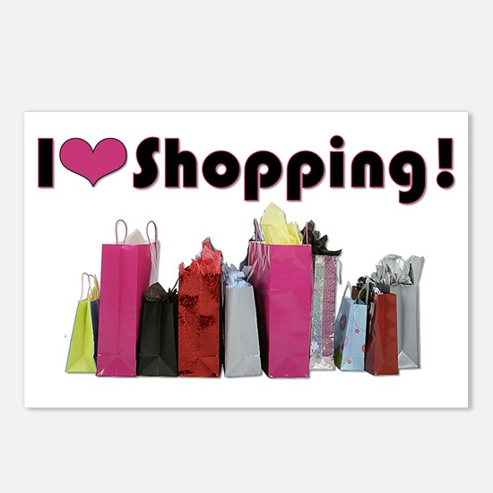 I Love Shopping Postcards (Package of 8)