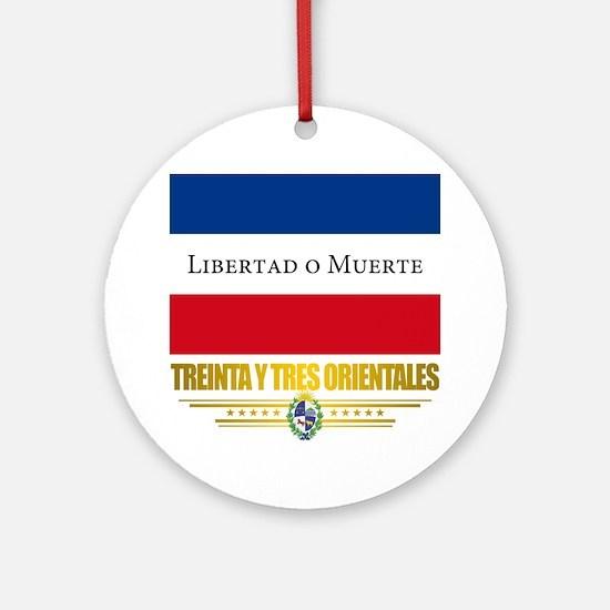 Treinta y Tres Orientales Round Ornament