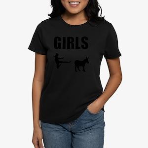Girls Kick Ass Women's Dark T-Shirt