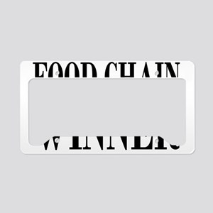 foodchainrectangle License Plate Holder