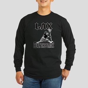 LAX Fear The Stick Long Sleeve Dark T-Shirt