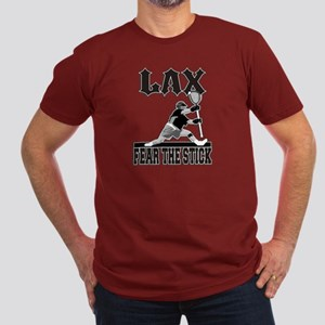 LAX Fear The Stick Men's Fitted T-Shirt (dark)