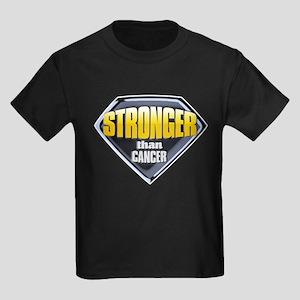 Stronger than cancer Kids Dark T-Shirt