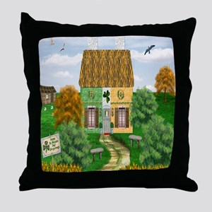St. Patricks Cottage Throw Pillow
