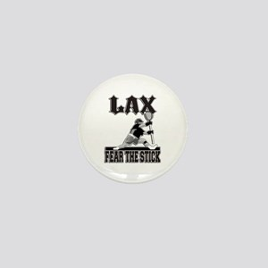 LAX Fear The Stick Mini Button