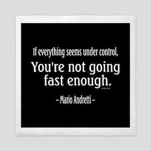 Mario Andretti Quote Queen Duvet