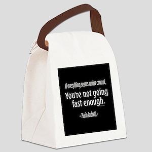 Mario Andretti Quote Canvas Lunch Bag