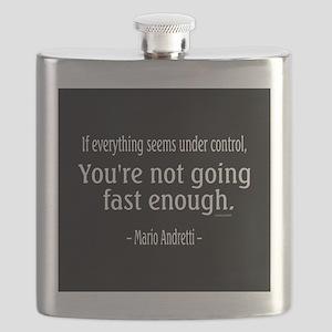 Mario Andretti Quote Flask