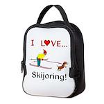 I Love Skijoring Neoprene Lunch Bag