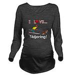 I Love Skijoring Long Sleeve Maternity T-Shirt