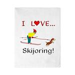 I Love Skijoring Twin Duvet